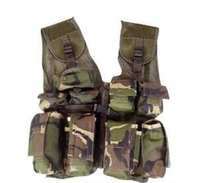 Kids Camouflage Combat Vest - Woodland