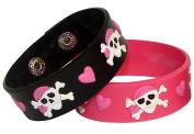 Pink Pirate Girl Rubber Bracelets
