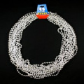 12 silver bead necklaces- pirate treasure or princess party favours!