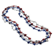 4th of July Beaded Necklaces