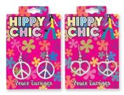 Hippy Chick Peace Earrings