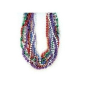 Mardi Gras Mixed Beads 80cm Necklaces