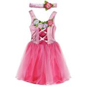 My Princess Academy / Dark & Light Pink Velvet Classic Princess Dress, Small 3/4