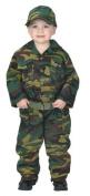 Jr. Camouflage Suit with Cap & Belt, size 2/3, Green
