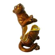 "Objet D'Art Release #123 ""Oliver"" California Sea Otter Handmade Jeweled Enameled Metal Trinket Box"