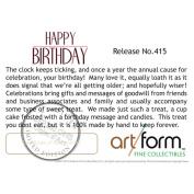 "Objet D'Art Release #415 ""Happy Birthday"" Birthday Cake Handmade Jeweled Metal & Enamel Trinket Box"