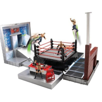 WWE Micro Aggression Playset with 4 Figures