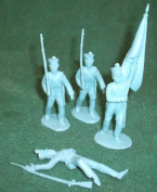 Classic Toy Soldiers Alamo Mexican Infantry Set #1, 1/32 scale, 12 figures in 9 poses in blue