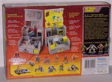 Small Soldiers Attack Zones mini playset with 4 mini figures!