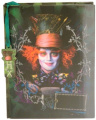 """Disney Mad Hatter Lenticular Diary (with Fabric Feel/Texture) 6"""" x 8"""" with Mad Hat Watermark"""