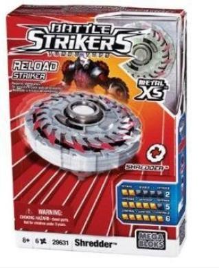 Mega Bloks Battle Strikers Turbo Tops Metal XS, Shredder.
