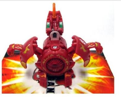 Bakugan Gundalian Invaders Season 3 (Red / Pyrus) Lumitroid Super Assault 730...