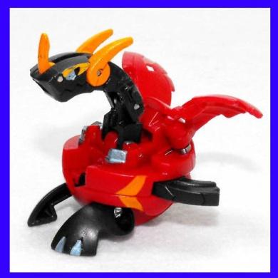Bakugan Pyrus Vexos Hex Dragonoid Japanese Exclusive {New Loose Figure}