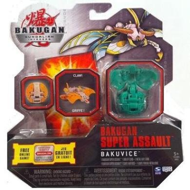 Bakugan Super Assault Gundalian Invaders Season 3 New Bakuvice (Green) Ventus LONGFLY w/DNA CODE