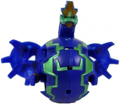 Bakugan New Vestroia Bakuneon LOOSE Single Figure Aquos (Blue) Nemus