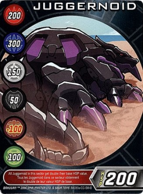 Bakugan Battle Brawlers Single LOOSE Character Card - JUGGERNOID