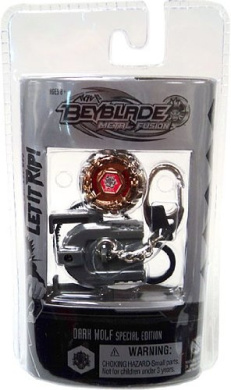 Beyblades Metal Fusion Chrome Series 2 Keychain Dark Wolf