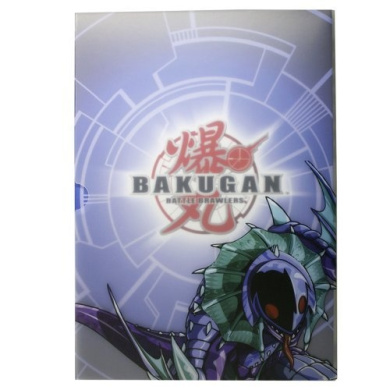 Bakugan Battle Brawlers Bakubinder Collector Card Holder Binder w/3 Exclusive Ability Cards!