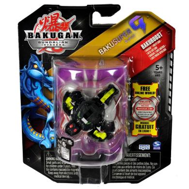 Spin Master Year 2010 Bakugan Gundalian Invaders Bakusuper G Series Bakuboost Single Figure - Darkus Black OLIFUS with 1 Ability Card and 1 Metal Gate Card Plus Hidden DNA Code