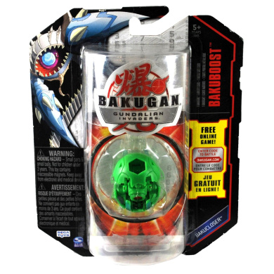 Spin Master Year 2010 Bakugan Gundalian Invaders Bakucloser Series Bakuboost Single Figure - Ventus Green HAKAPOID with 1 Ability Card and 1 Metal Gate Card Plus Hidden DNA Code