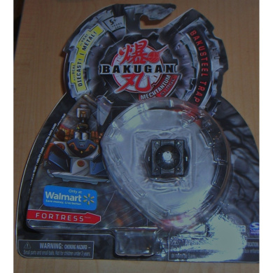 Bakugan EXCLUSIVE Mechtanium Surge Bakusteel Trap FORTRESS with real Diecast Metal (new in sealed package with cards