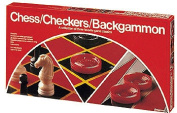 PRESSMAN TOY Chess/Checkers/Backgammon Set