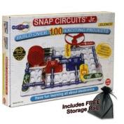 Snap Circuits Jr. - 100 with FREE Storage Bag