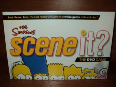 The Simpsons Scene It DVD Board Trivia Game