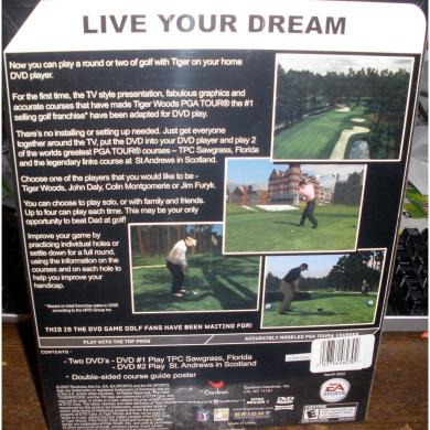 Tiger Woods PGA Tour Family DVD game