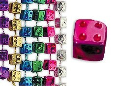 Bunco Dice Marti Gras Bead Necklaces
