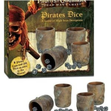 Disney Pirates of the Caribbean Dead Man's Chest Pirated Dice Game