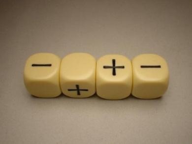 Fudge Dice - Ivory (4 dice in plastic tube)