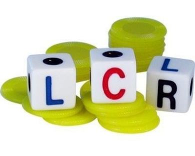 LCR - Left Center Right - Family Dice Game - YELLOW