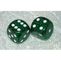 Green Speckled Dice Pair