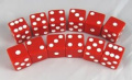 Red Opaque Promotional Dice D6 16mm 12 Dice