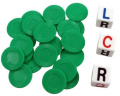 LCR - Left Center Right - Family Dice Game - GREEN