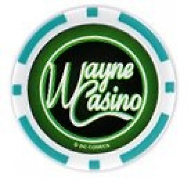 Batman's Wayne Casino Collectors Edition $25 Poker Chip Green Coloured Variant