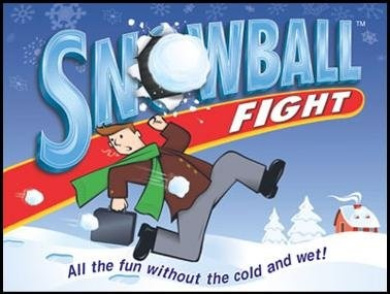 Snowball Fight; All the Fun Without the Cold and Wet