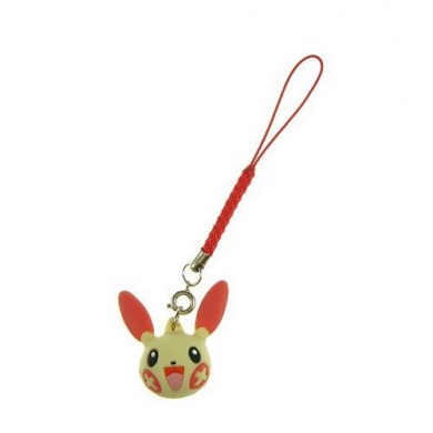 Pokemon Strap with Plusle Head Figure ***Free Domestic Standard Shipping For This Item!***