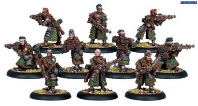 Warmachine: Mercenary Steelhead Riflemen (10 figures)