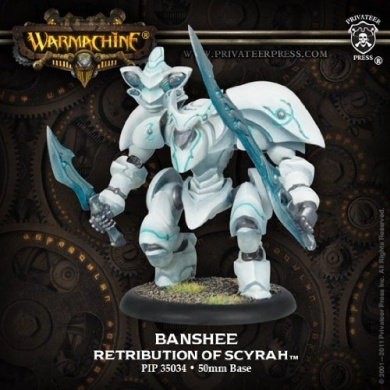 Warmachine: Retribution of Scyrah Heavy Myrmidon (Banshee, Daemon, Sphinx) (Plastic) (1 figure)