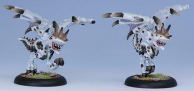 Legion of Everblight Harrier Light Warbeasts (2 Models)