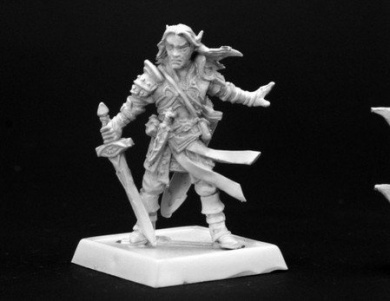 Arael Half Elf Cleric Pathfinder Series Miniatures Multi-Coloured