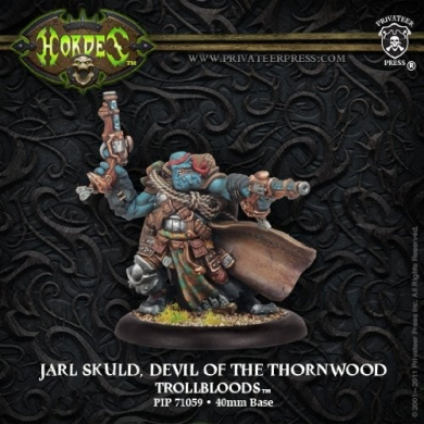 Hordes: Trollblood Warlock Devil of Thornwood Jarl Skuld (1 figure)