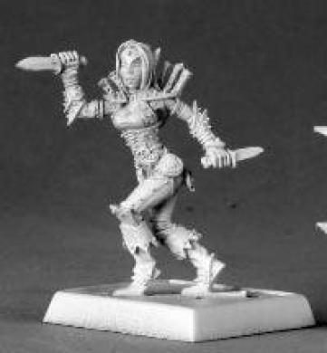 Merisiel Iconic Female Elf Roque Pathfinder Miniatures REM60013 REAPER MINATURES