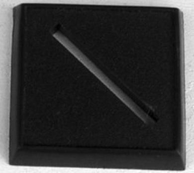 2.5cm Plastic Universal Slotted Base 12
