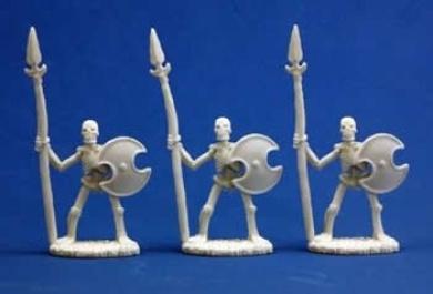 Skeletal Spearmen (3) - Dark Heaven Bones Miniature
