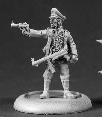 Kroid Officer with Pistal Reich of the Dead Series Miniature by Reaper Miniatures