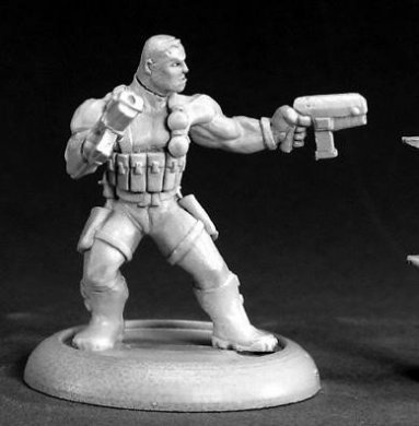 Frank Russo Mercenary Hero Chronoscope Miniature Figures
