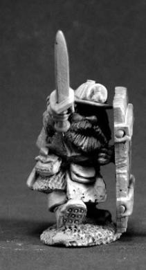 Cobb Blackbadger Dwarf Miner Miniature Dark Heaven Legends by Reaper Minatures